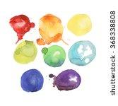 rainbow watercolor  | Shutterstock .eps vector #368338808