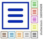 set of color square framed menu ...