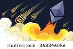 ether grows  bitcoin fails... | Shutterstock .eps vector #368346086