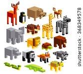 vector set of different cartoon ... | Shutterstock .eps vector #368349578