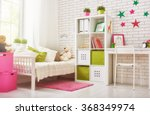 Interior Of Colorful Bedroom...