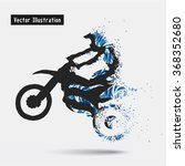 motorcycle riders. vector eps10 ... | Shutterstock .eps vector #368352680