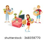 people with stuff moving | Shutterstock .eps vector #368358770