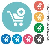 flat add to cart icon set on...