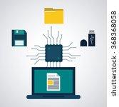 data center design  | Shutterstock .eps vector #368368058