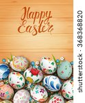 realistic eggs and flowers on... | Shutterstock .eps vector #368368820