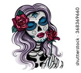 vector color skull woman... | Shutterstock .eps vector #368369660