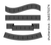 film strip frame set. different ... | Shutterstock .eps vector #368370374