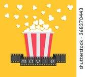 popcorn. film strip ribbon. red ... | Shutterstock .eps vector #368370443