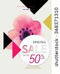 fashion sale stylish banner... | Shutterstock .eps vector #368371310