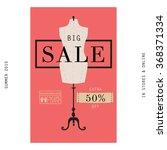 vintage big sale banner. modern ... | Shutterstock .eps vector #368371334