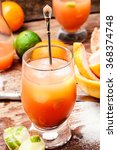 glass of fresh juice from... | Shutterstock . vector #368374748