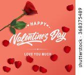 valentines day lettering...   Shutterstock .eps vector #368375489