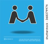 handshake icon on blue... | Shutterstock .eps vector #368379974