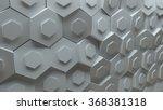 3d background platte made of... | Shutterstock . vector #368381318