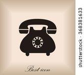 phone icon | Shutterstock .eps vector #368381633