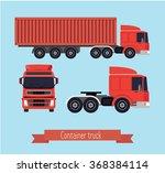 illustration of a flat truck.... | Shutterstock .eps vector #368384114