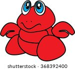 baby hermit crab isolated... | Shutterstock .eps vector #368392400