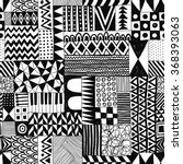 black and white vector seamless ... | Shutterstock .eps vector #368393063