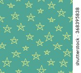 doodle star seamless pattern....   Shutterstock .eps vector #368395838