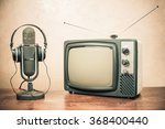 retro television  headphones... | Shutterstock . vector #368400440