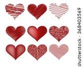 sketch drawn hearts.happy... | Shutterstock .eps vector #368403569