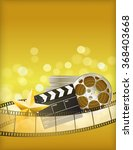 cinema golden background with...   Shutterstock .eps vector #368403668