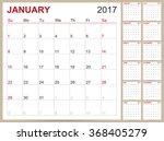 calendar 2017  english planning ... | Shutterstock .eps vector #368405279