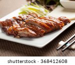 peking duck as served in a... | Shutterstock . vector #368412608