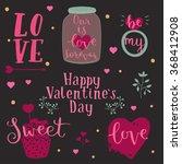 lettering design set of happy... | Shutterstock .eps vector #368412908