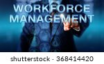 human resources manager is... | Shutterstock . vector #368414420