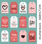 vector valentine's cards... | Shutterstock .eps vector #368417144