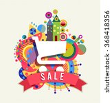 shopping cart icon  sale... | Shutterstock .eps vector #368418356