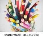 the colored pencils in the... | Shutterstock . vector #368419940