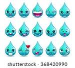 funny cartoon water drop...