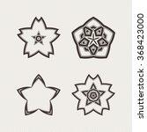 set of ornate mandala symbols.... | Shutterstock . vector #368423000