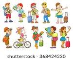 set of  travel cartoon... | Shutterstock .eps vector #368424230