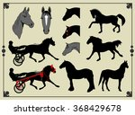 a set of images  icons  horses   Shutterstock .eps vector #368429678