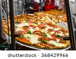 fresh italian pizza in new york ... | Shutterstock . vector #368429966