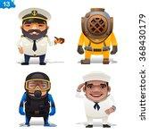 maritime professions | Shutterstock .eps vector #368430179
