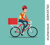 cool male courier person... | Shutterstock .eps vector #368434760