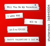 valentine paper banner with... | Shutterstock .eps vector #368440004