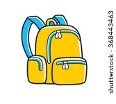 yellow school bag icon. | Shutterstock .eps vector #368443463