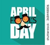 April Fools Day Flat Design...