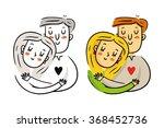 cute freehand cartoon vector... | Shutterstock .eps vector #368452736