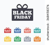 black friday gift sign icon.... | Shutterstock .eps vector #368458376
