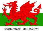 wales flag . vector   Shutterstock .eps vector #368459894