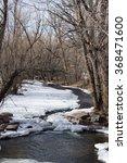 frozen river  winter river ... | Shutterstock . vector #368471600