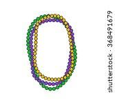 mardi gras beads. vector...   Shutterstock .eps vector #368491679