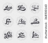 word love badge lettering of... | Shutterstock .eps vector #368500160